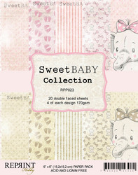 Reprint Sweet Baby tyttö Collection paperikko 6x6