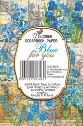 Decorer korttikuvat Blue for you 24kpl