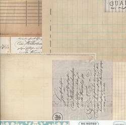 Skräppäyspaperi Carta Bella So Script & Scribbles 30,5x30,5cm