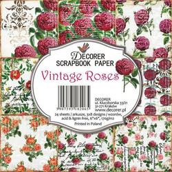 Decorer paperikko Vintage Roses  6x6