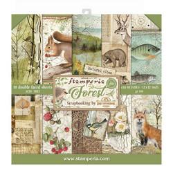 Stamperia paperilehtiö Forest 12x12