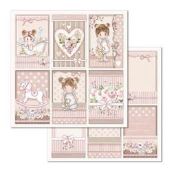 Stamperia paperilehtiö Little Girl 12x12