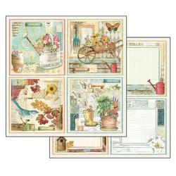 Stamperia paperilehtiö Garden 12x12