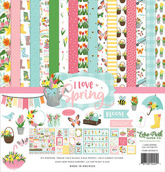 Echo Park I Love Spring paperipakkaus Collection kit 12x12