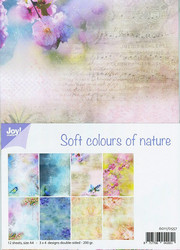 Joy Craft Soft Colours of nature paperisetti 12kpl a4