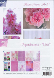 Joy Craft Paperdreams - Pink paperisetti 10kpl a4