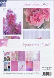 Joy Craft Paperdreams - Pink paperisetti 10kpl a4