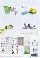 Joy Craft Spring with Michelle paperisetti 10kpl a4