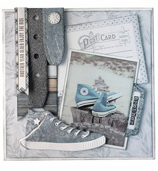 Joy Craft stanssit tennari Vintage Jeans Sneakers 6002/1389