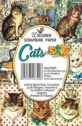 Decorer korttikuvat cats 24kpl