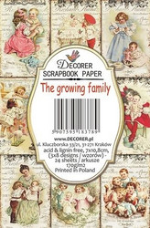 Decorer korttikuvat The growing family 24kpl