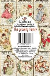 Decorer korttikuvat The growing family 24kpl