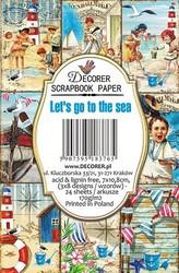 Decorer korttikuvat Let´s go to the sea 24kpl