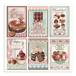 Stamperia korttikuvat Chocolate Cards  12x12