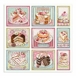 Stamperia korttikuvat Sweety Cakes Cards 12x12