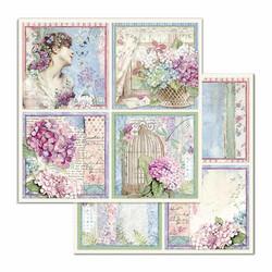 Stamperia korttikuvat Hortensia Cards 12x12