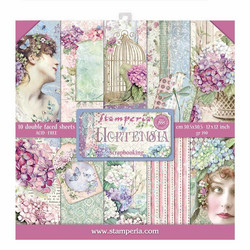 Stamperia paperilehtiö Hortensia 12x12