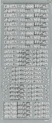 Ääriviivatarrat erilaisia joulutekstejä hopea 9329 JK Primeco