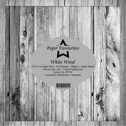 HG paperikko White Wood 6x6