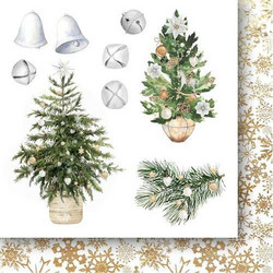 Paper Heaven White as Snow paperisetti Flowers & ornaments 15x15cm