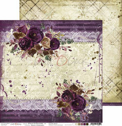 Craft O´Clock Plum in Chocolate paperisetti 30,5x30,5cm 6kpl