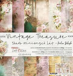 Craft O´Clock Vintage Treasure paperisetti 30,5x30,5cm 6kpl