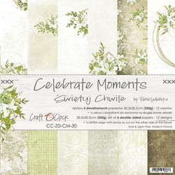 Craft O´Clock Celebrate Moments paperisetti 30,5x30,5cm 6kpl