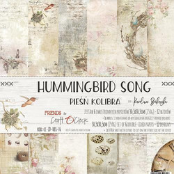 Craft O´Clock Hummingbird song paperisetti 30,5x30,5cm 6kpl