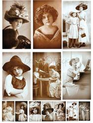 Craft o´Clock Vintagekuvat Mixed Media 12kpl a5