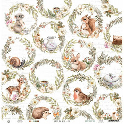 P13 skräppipaperi Forest Tea Party 02 12x12