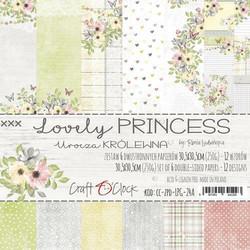 Craft O´Clock Lovely Princess paperisetti 30,5x30,5cm 6kpl