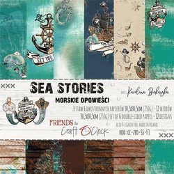 Craft O´Clock Sea Stories paperisetti 30,5x30,5cm 6kpl