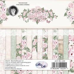 Altair Art Rose Garden kuviopaperilehtiö 6x6