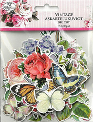 Isot askartelukuviot Vintage kukat/perhoset JK Primeco 2984