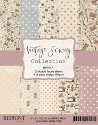 Reprint Vintage Sewing paperikko 6x6
