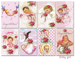 Decorer korttikuvat Baby girl 24kpl
