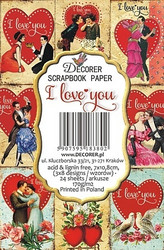 Decorer korttikuvat I Love You 24kpl