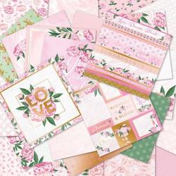Craft Smart paperikko Plush Peonies 12x12