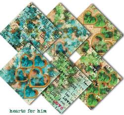 Decorer paperikko Hearts for him 8x8