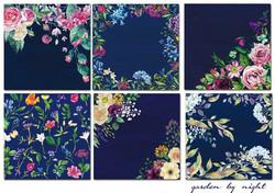 Decorer paperikko Garden by Night 8x8