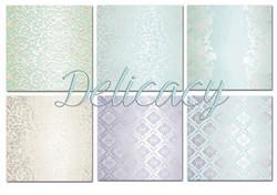 Decorer paperikko Delicate Damask 8x8