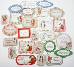 JK Primeco ISOT askartelukuviot joulu vintage 25kpl