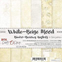 Craft O´Clock paperikko White-Beige Mood 15,25x15,25cm