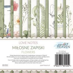Paper Heaven paperikko Love Notes Flowers 6x6