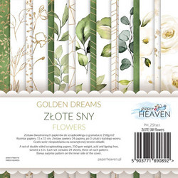Paper Heaven paperikko Golden Dreams Flowers 6x6