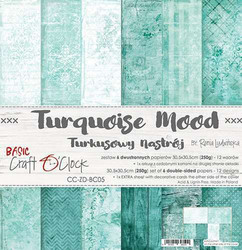 Craft O´Clock Turquoise Mood basic paperisetti 30,5x30,5cm 6kpl