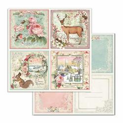 Stamperia paperikko Pink Christmas 12x12