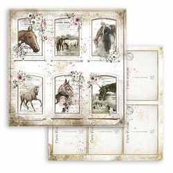 Stamperia korttikuvat Romantic Horses Cards  12x12