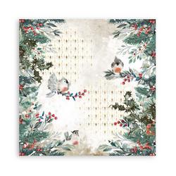 Stamperia paperi Romantic Christmas -  Christmas Birds 12x12 SBB827