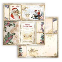 Stamperia paperi Romantic Christmas -  Cards Santa Claus 12x12 SBB829